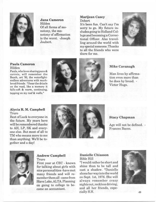 1994 | Cobequid Educational Centre Yearbooks